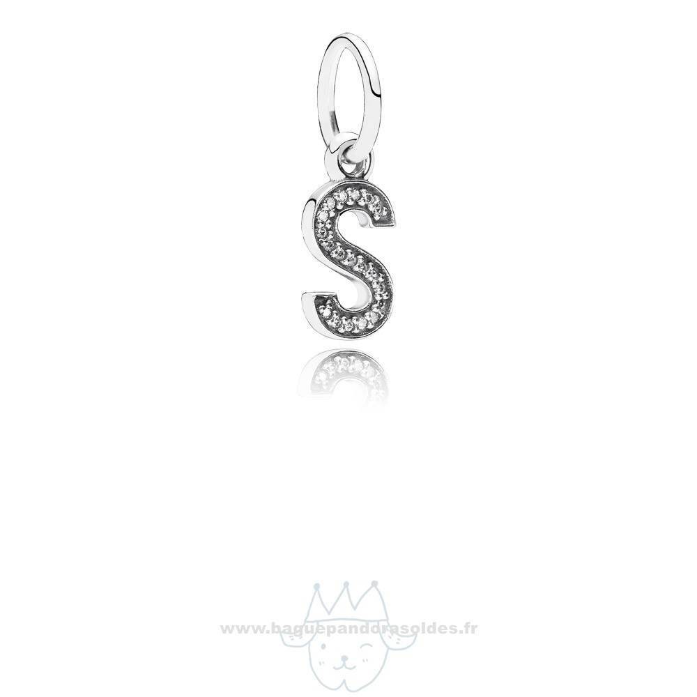Tous Les Bijoux Pandora Pandora Dangle Charms Lettre S Dangle Charm Clear Cz Entier