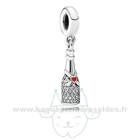 Tous Les Bijoux Pandora Pandora Passions Charms Chic Charme Celebration Time Dangle Red Enamel Clear Cz Entier