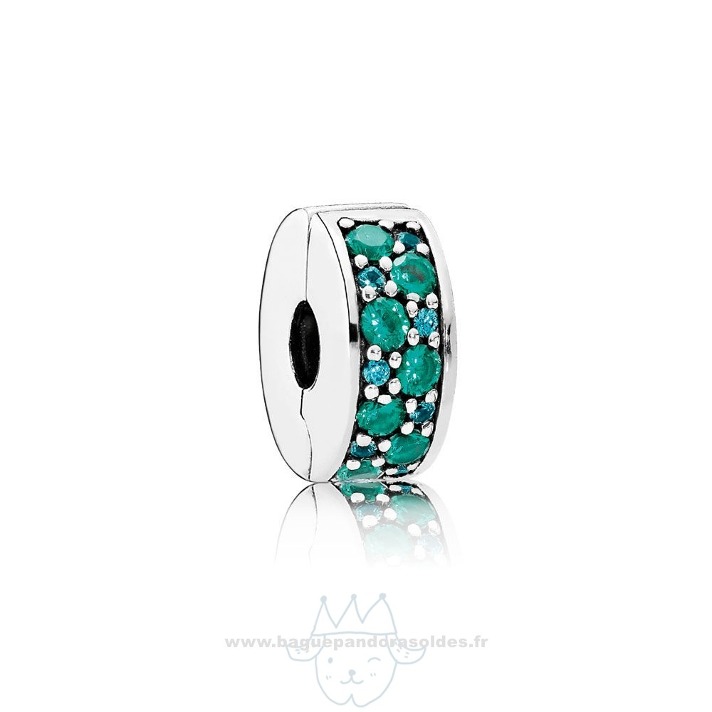 Tous Les Bijoux Pandora Pandora Charms De Couleur Mosaique Brillant Elegance Clip Multi Coloured Crystals Teal Cz Entier